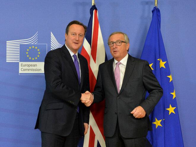 David Cameron et Jean-Claude Juncker le 15 octobre 2015 à Bruxelles © Georgine Coupe/10 Downing Street