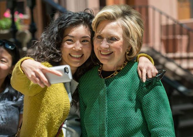 Hillary Clinton en campagne en mai 2105. © DR