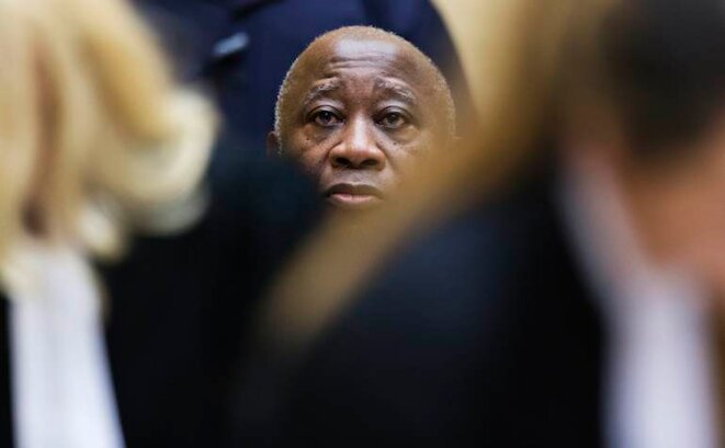 Laurent Gbagbo lors de son audition devant la CPI, le 19 février 2013