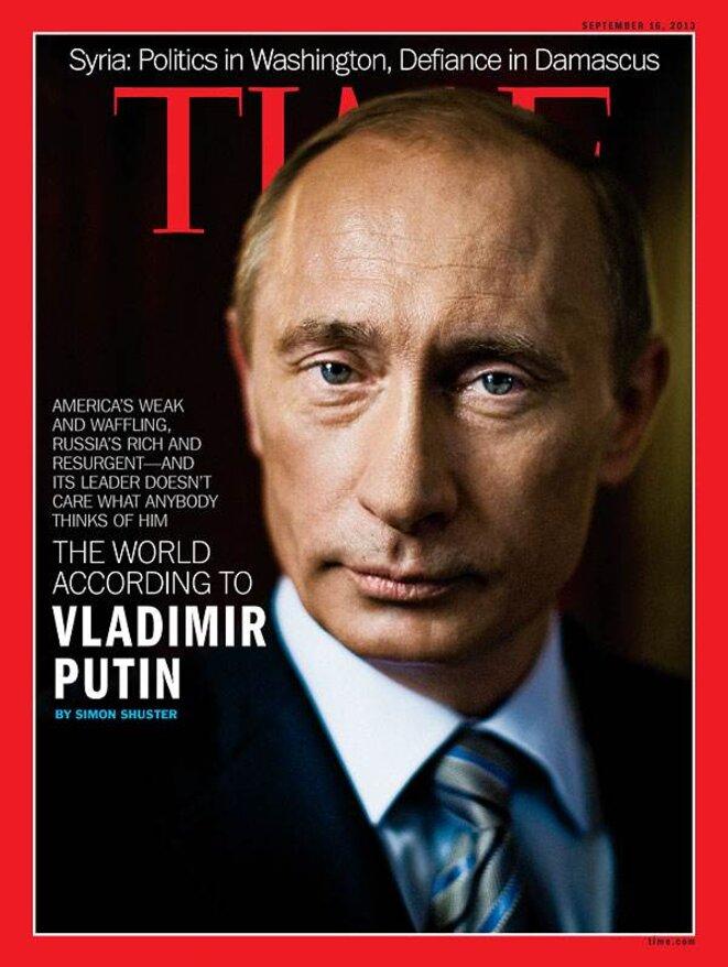 """""""Le monde selon Poutine"""", en couverture de Time Magazine cette semaine."""