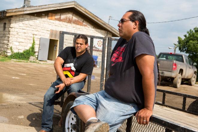 Aldo Seoane et Wayne Frederick, qui se battent contre le passage du pipeline