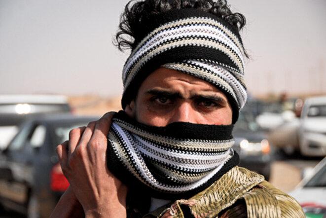 Aberhamane sur le front, près de BenJawad © Thomas Cantaloube