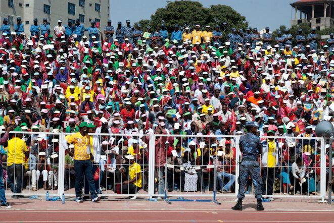 Un meeting du parti au pouvoir depuis 1991, l'EPRDF