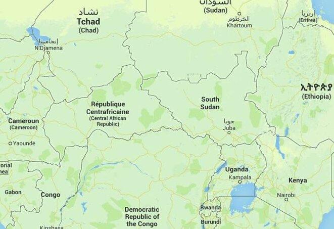 La Centrafrique encadrée de ses six voisins, dont le Sud-Soudan, tout nouveau pays.