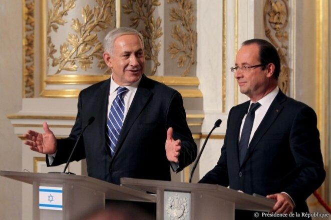 Hollande et Benjamin Netanyahou en octobre 2012