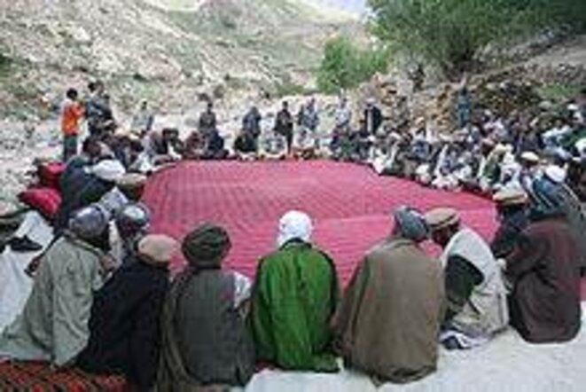 Une Jirga en Afghanistan