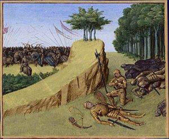 Bataille de Roncevaux en 778. Mort de Roland