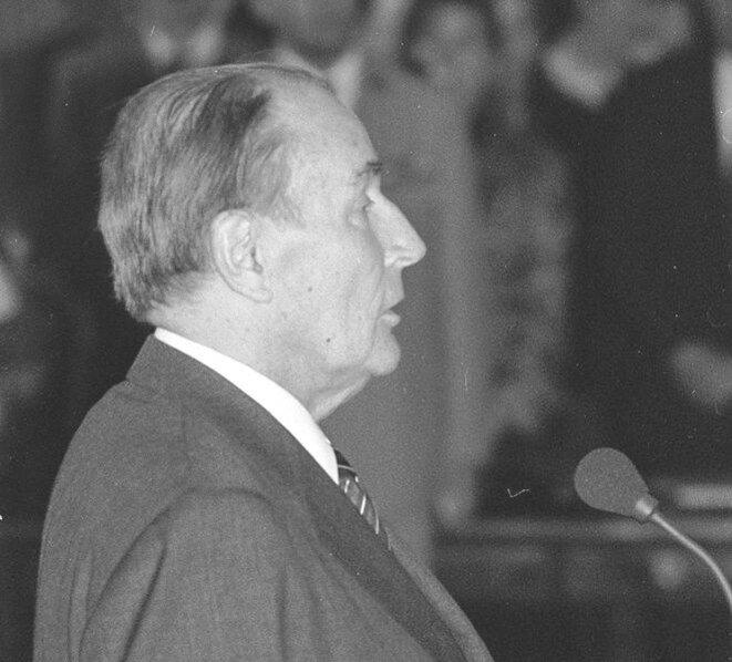 François Mitterrand en 1991