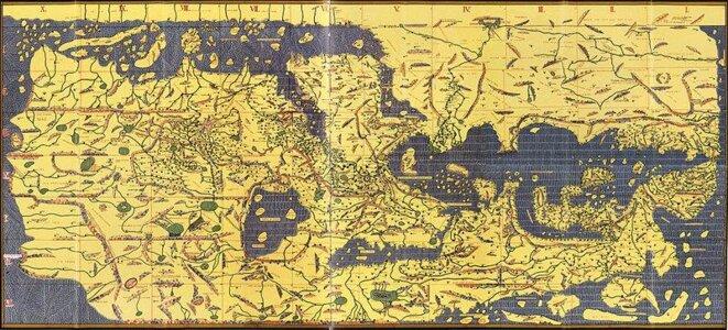 La carte du géographe Al-Idrissi (vers 1100-vers 1165)