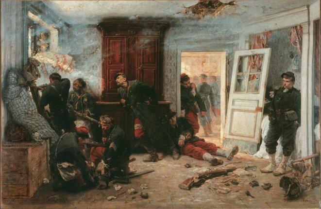 """""""Les dernières cartouches"""" (1873)."""