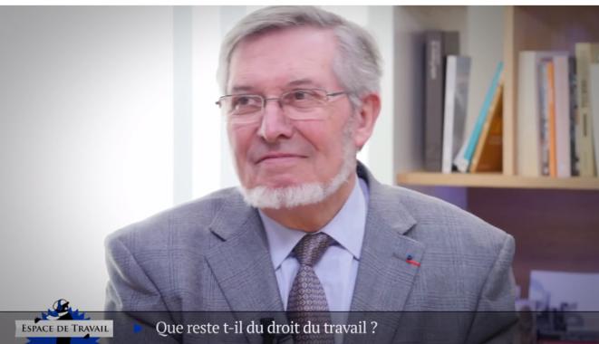 Entretien vidéo avec l'ancien ministre Jean Auroux.