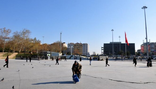 Place Taksim, novembre 2013 © Pierre Puchot