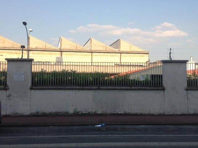 Site du futur méga-data center d'Interxion à La Courneuve, sur l'ancien site d'Eurocopter. © Jade Lindgaard