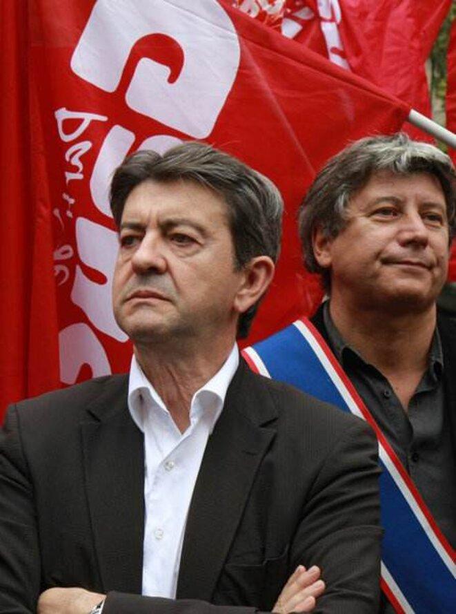 JL Mélenchon - photo Rouge