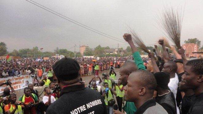 Manifestation de l'opposition à Ouagadougou le 18 janvier 2014