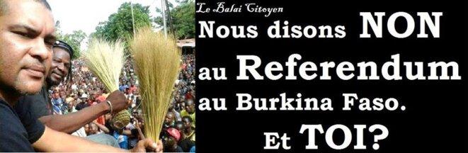 Campagne du balai citoyen contre le référendum sur facebook © balai citoyen