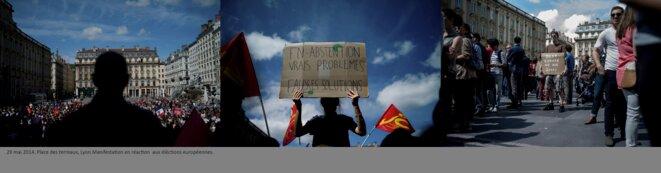 Manifestation Post election européennes place des terreaux, Lyon. © henri granjean/item