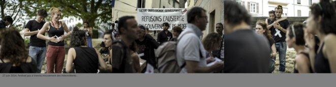 Mouvement des intermittents festival Jazz à Vienne © henri granjean/item