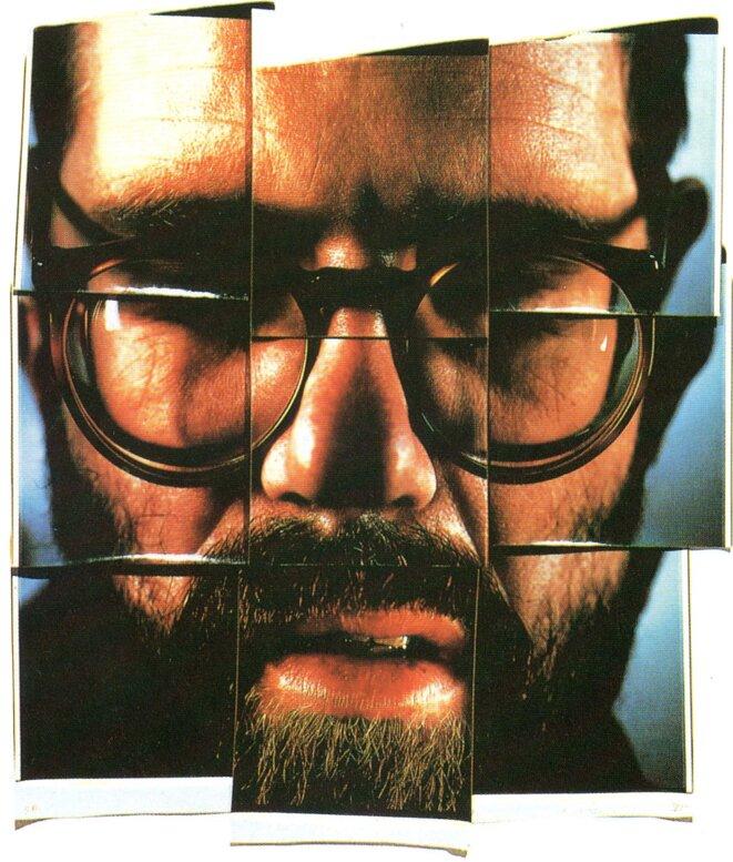 Autoportrait composite en neuf parties, 1979, neuf clichés polaroïd © Chuck Close