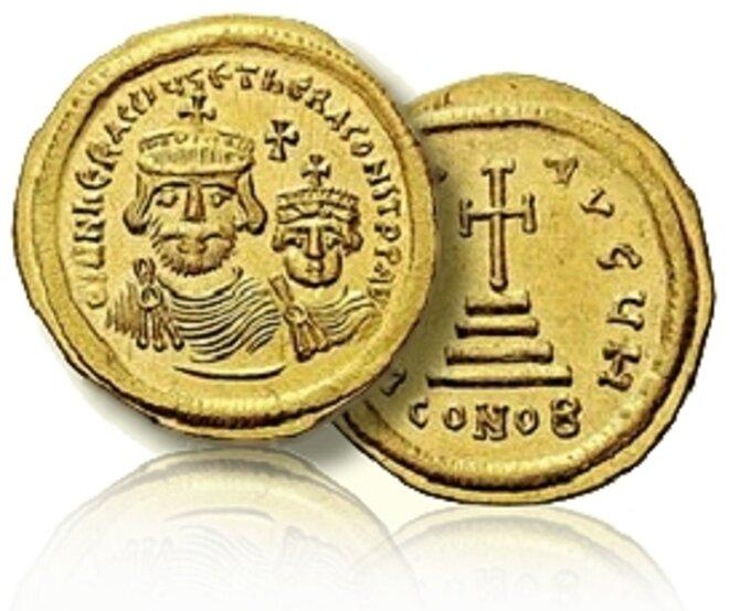 Solidus du temps d'Héraclius (610-641) © CoinWeek