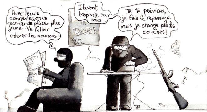 Les reponses de la France met les terroristes en difficulté. © Breton Hugues