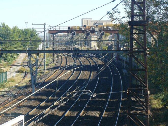L'arrivée en gare de Narbonne.