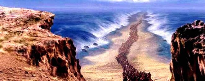 La traversée de la Mer Rouge © Cécil B. De MILLE