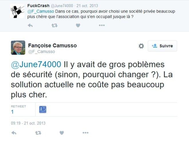 Échange Twitter avec Françoise Camusso