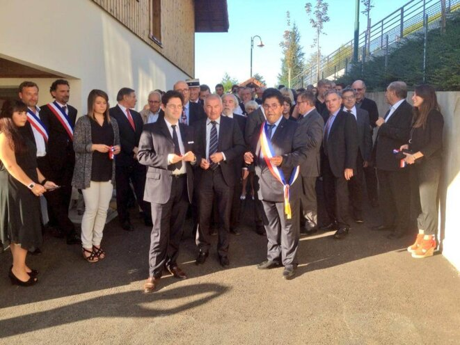 Inauguration salle Bluffy - Photo diffusée par JC Carle -