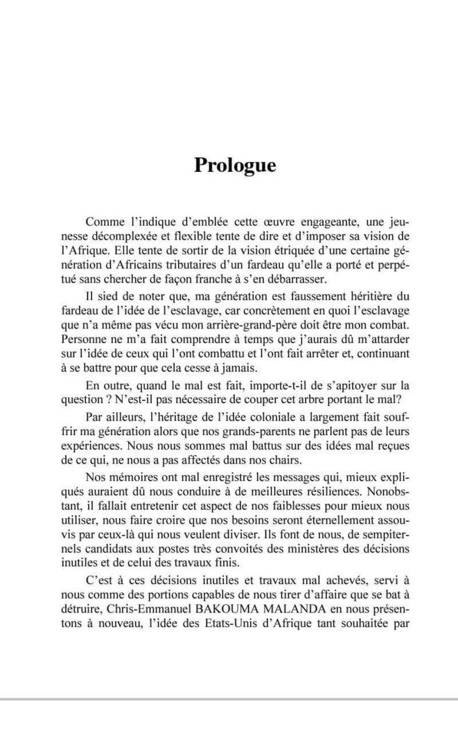 préface de sadio  Morel-Kante © sadio kante-morel
