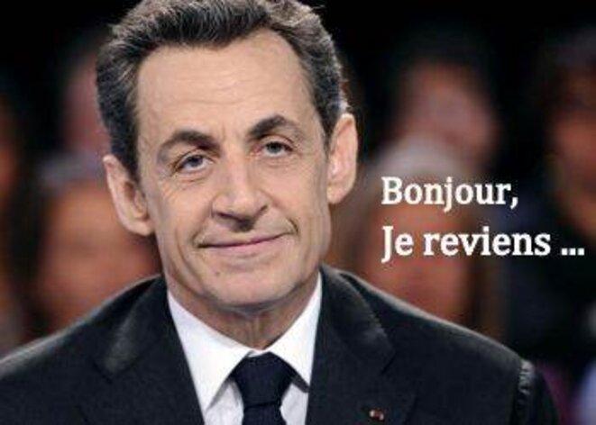 Le retour de Nicolas Sarkozy. © Pierre Reynaud