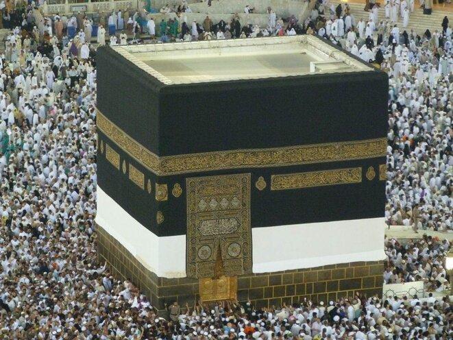 La Ka'aba tel que l'on peu la voir aujourd'hui à la Mecque