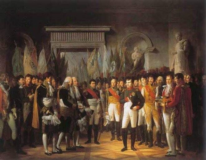Napoléon reçoit les sénateurs au Palais Royal de Berlin
