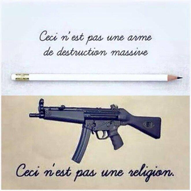 Ceci n'est pas une arme de destruction, ceci n'est pas une arme de religion