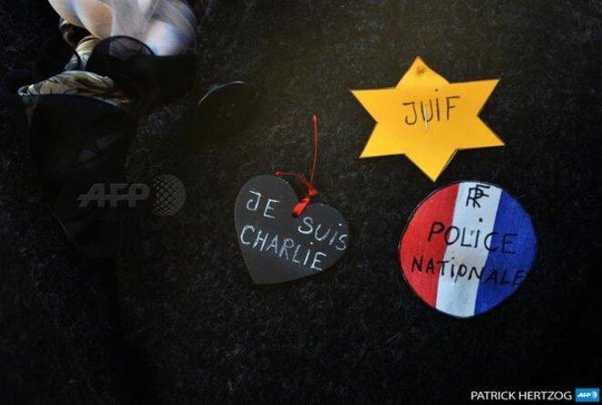 Charlie, Police Nationale, Juif © Patrick Hertzog AFP