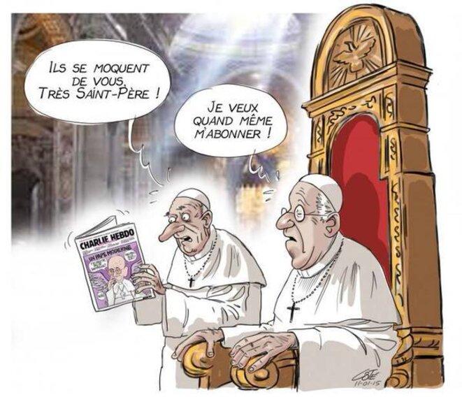 Caricature du Pape