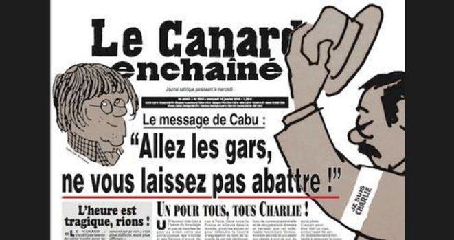 Hommage du Canard Enchaîné : « Allez les gars, ne vous laissez pas abattre ! »  © Canard enchaîné