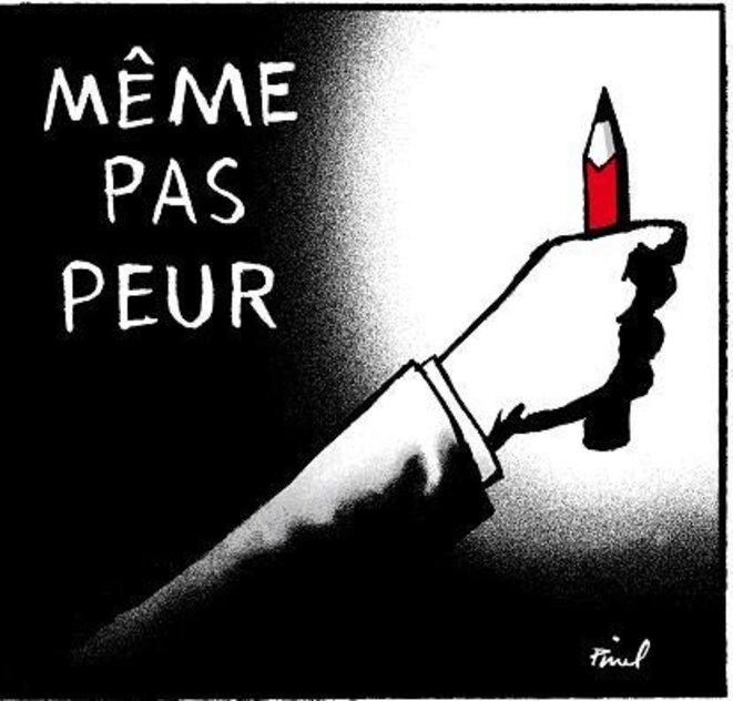 Dessin d'Hervé Pinel : « Même pas peur » © Hervé Pinel