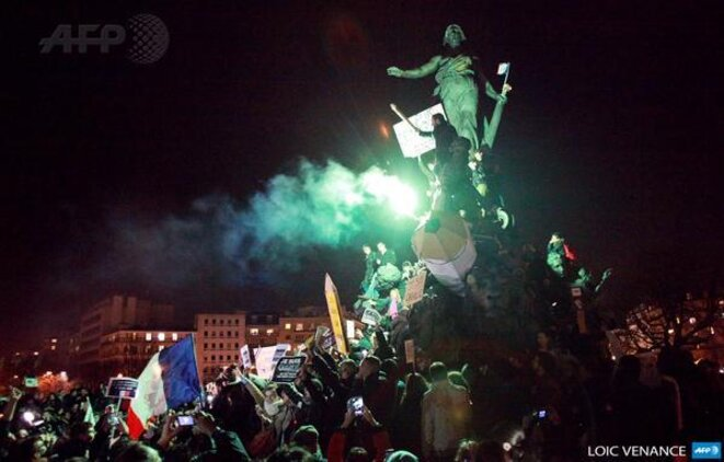 Statue de la Place de la République, Statue de la liberté de la France © Loïc Venance AFP