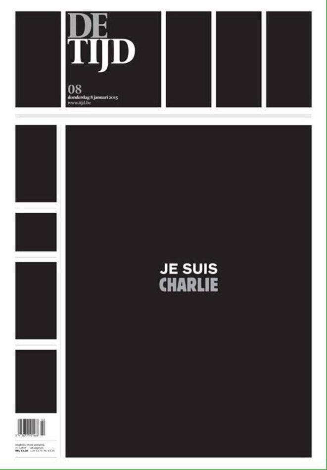 La Une du De Tijd (quotidien belge néerlandophone) © De Tijd