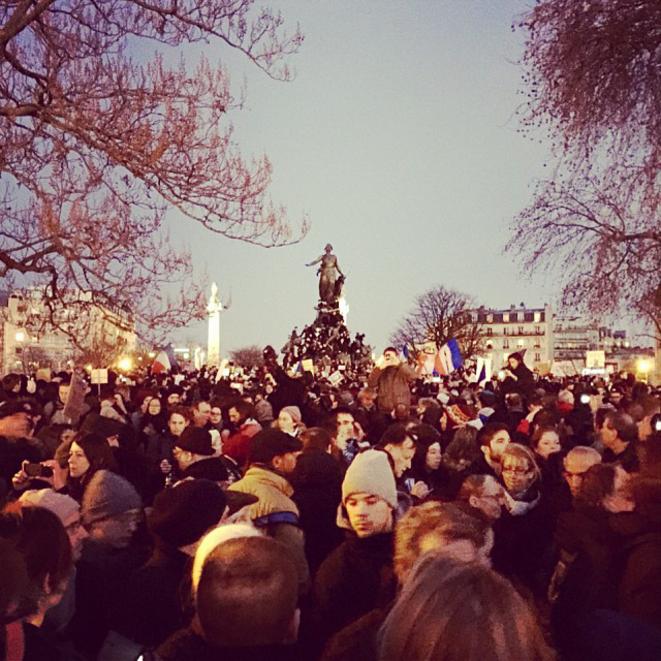 Place de la République le 11 janvier 2015