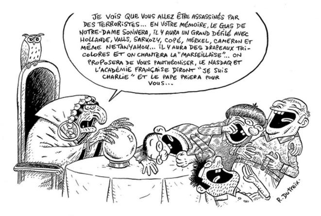 Caricature  © R. Dutreix