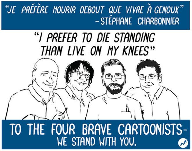 « Je préfère mourir debout que vivre à genoux. » Stéphane Charbonnier dit « Charb »