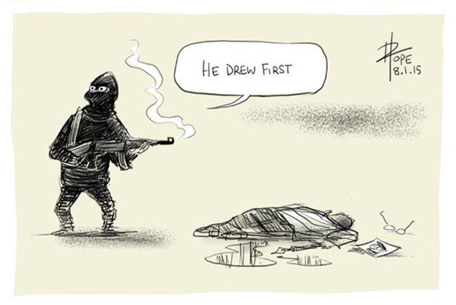 """He drew first"" © David Pope"