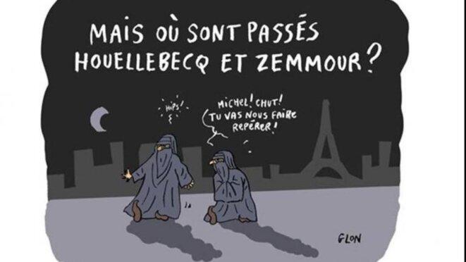 « Mais où sont passés Houellebecq et Zemmour » © Glon