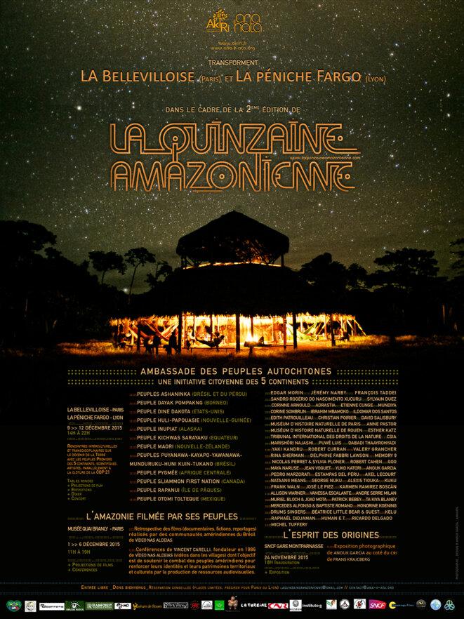 Affiche Quinzaine Amazonienne détail