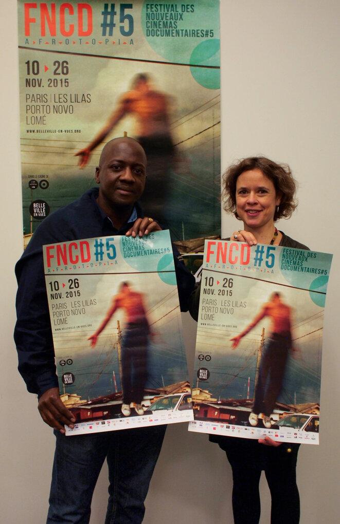 Stéphane Vieyra et Melissa Thackway au FNCD#5 © Sandra Davené