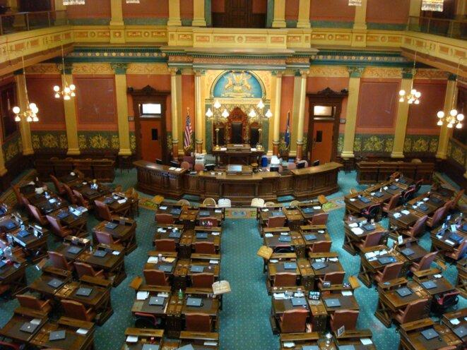 La Chambre des représentants du Michigan, basée à Lansing. © CC