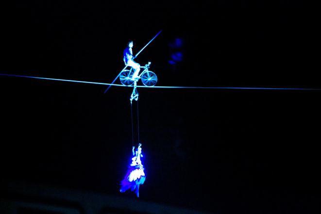 Tightrope Walker for the official start of Bristol Green Capital © Camille Felouzis