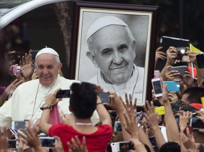 le pape François aux Philippines  © Alessandra Tarantino ©AP/SIPA